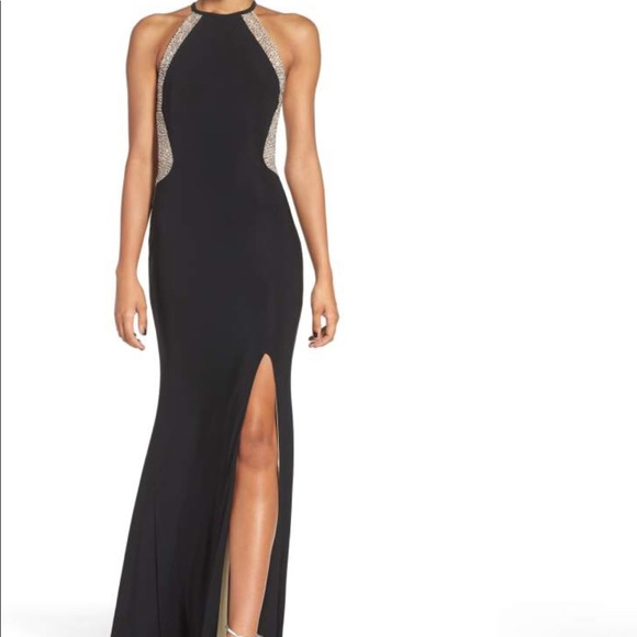 Xscape Dresses | Gorgeous Beaded And Illusion Mesh Jersey Gown ...